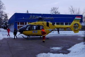 Mentőhelikopter landolt Petőfibányán HEOL információ