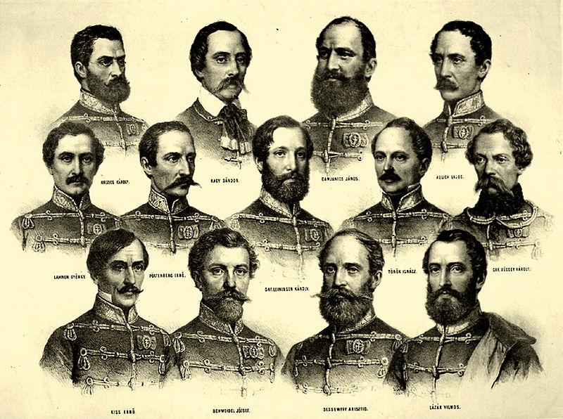 170 éve, 1849. október 6-án kivégezték a tizenhárom aradi vértanút