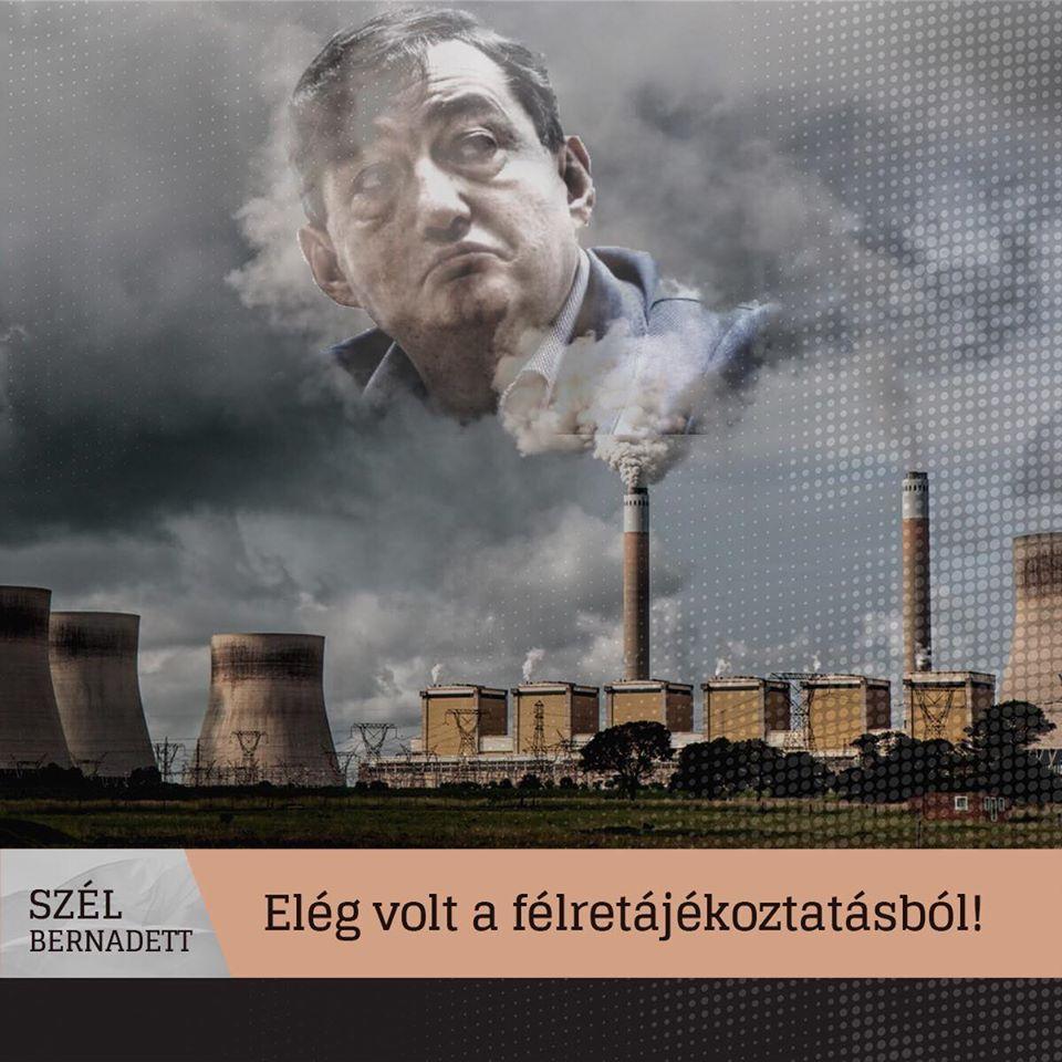 Nem igaz – írja Facebook oldalán Szél Bernadett – hogy nem volt veszélyes gázszivárgás